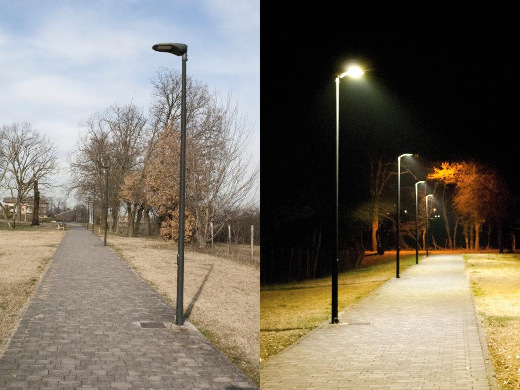 Sl m street light luxi illuminazione for Arredo urbano in inglese