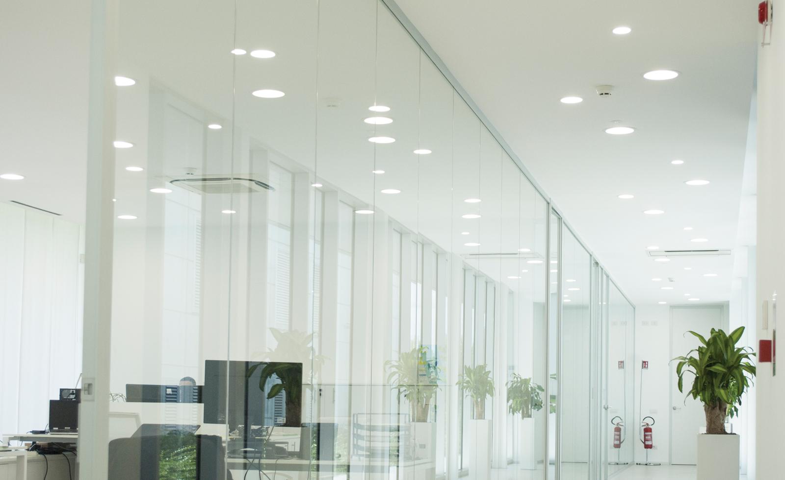 Faretti Led Da Incasso Per Uffici E Negozi Luxi Illuminazione